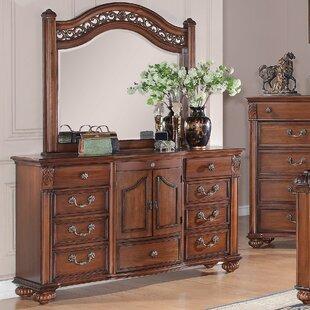 Leigh 9 Drawer Dresser with Mirror by Fleur De Lis Living