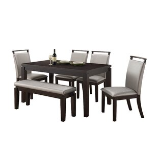 Wimbish Burrows 6 Piece Solid Wood Dining Set