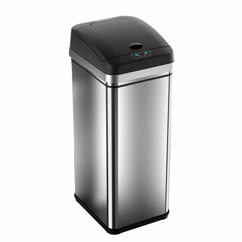 Kitchen Trash Can With Lid | Kitchen Trash Cans You Ll Love Wayfair