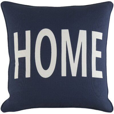 Ivy Bronx Yahya Home Cotton Throw Pillow Cover Color: Navy/ White