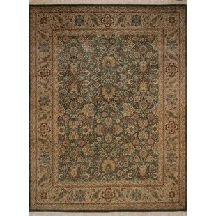 Coupon Canning Persian Hand-Knotted Wool Brown/Green Area Rug ByFleur De Lis Living
