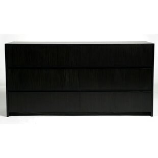 Garis 6 Drawer Double Dresser by Indo Puri Great Reviews