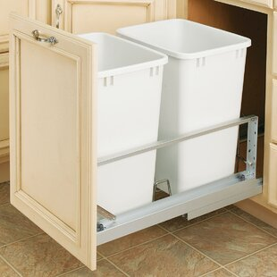 Rev-A-Shelf Plastic 8.75 Gallon Pull Out Trash Can (Set of 2)