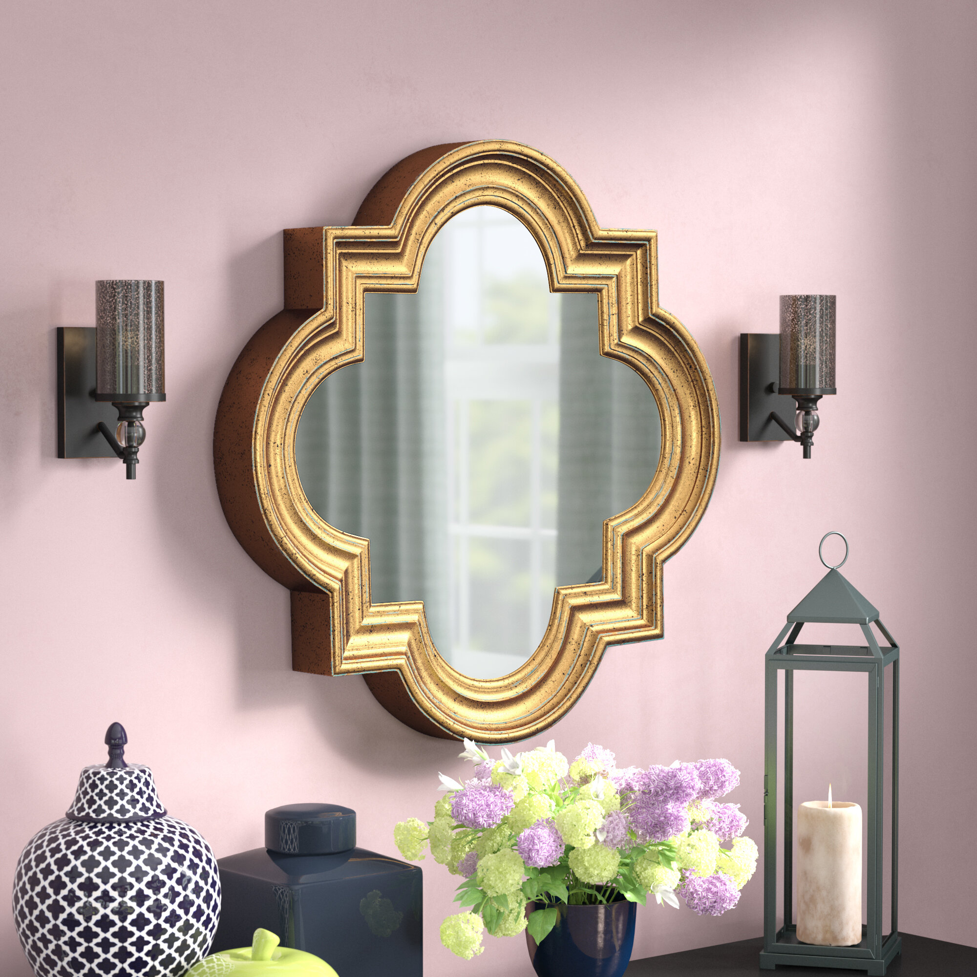 Willa Arlo Interiors Dhruv Traditional Distressed Accent Mirror Reviews Wayfair