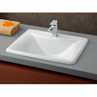 Coupon Bali Vitreous China Rectangular Drop-In Bathroom Sink ByCheviot Products