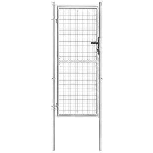 Abrienda Garden 3' X 8' (1.05m X 2.5m) Metal Gate By Sol 72 Outdoor