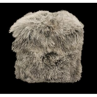 Tibetan Lamb Pouf by Chesterfield Leather