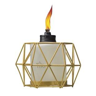 TIKI Brand Geo Globe Metal Tabletop Torch