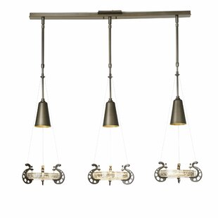 Hubbardton Forge Lens 3-Light Kitchen Island Pendant