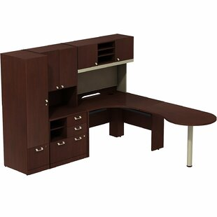 Bush Business Furniture Quantum Peninsula 3 Piece L-Shape Desk Office Suite