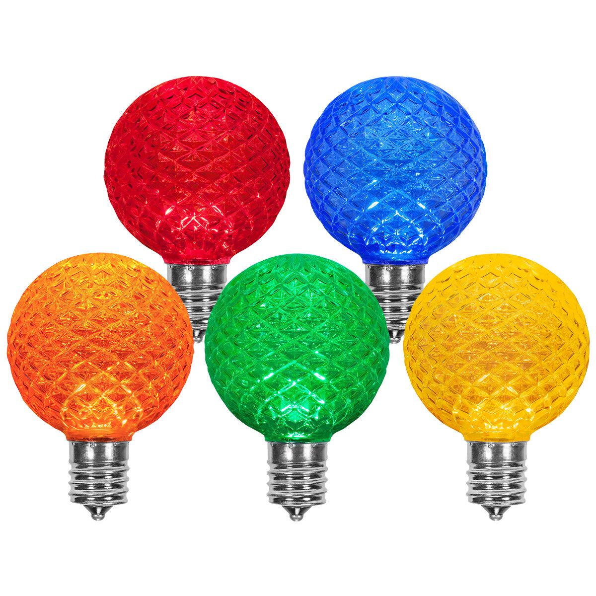 Wintergreen Lighting 25 Watt Equivalent Multicolor 130 Volt Light Bulbs Wayfair