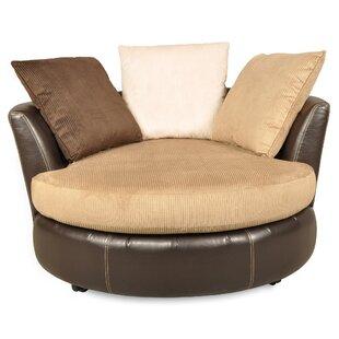 Vogelsang Swivel Barrel Chair by Red Barrel Studio
