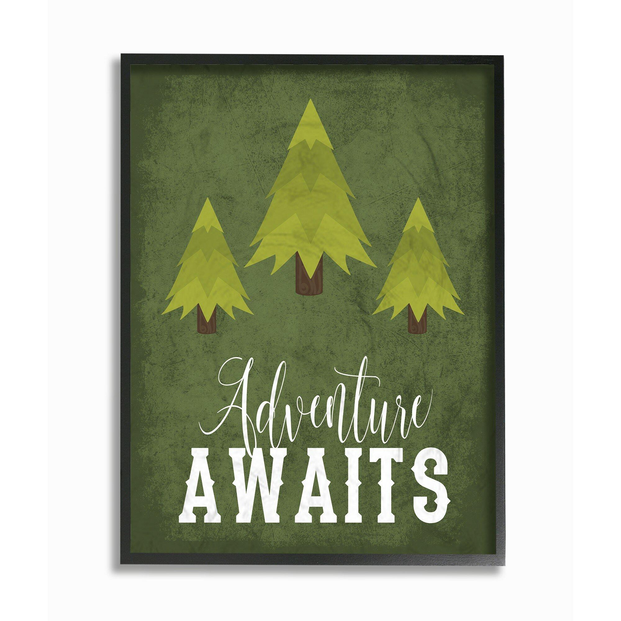 Harriet Bee Feeler Adventure Awaits Trees Framed Art Wayfair
