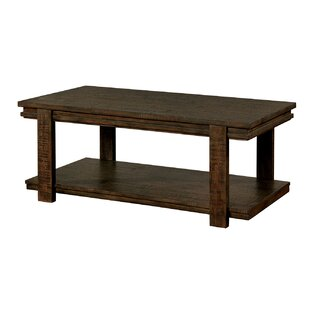 Haltwhistle Rough-Sawn Wooden Coffee Table by World Menagerie