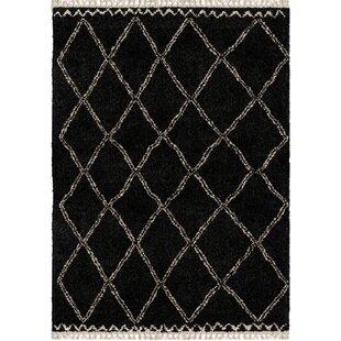 Darren Trellis Black Area Rug byFoundry Select