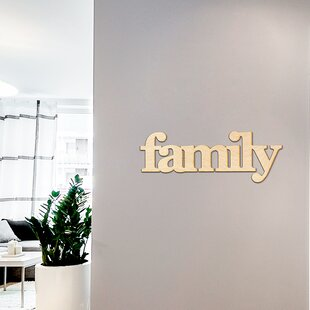 Family Serif Block Font Wood Sign Home Gallery Wall Decor