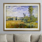 Landscape At Vetheuil by Claude Monet - Picture Frame Graphic Art