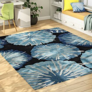 Breonna Hand Woven Blue Indoor/Outdoor Area Rug