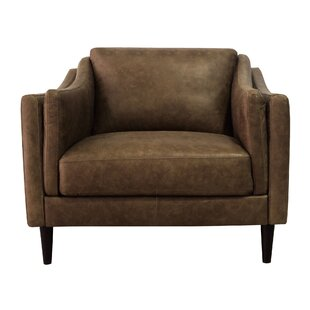 Union Rustic Rios Genuine Leather Armchair
