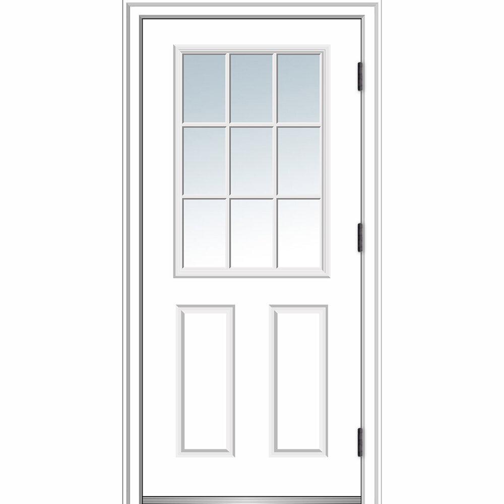 Merveilleux Verona Home Design Clear Glass Primed Steel Prehung Front Entry Door |  Wayfair