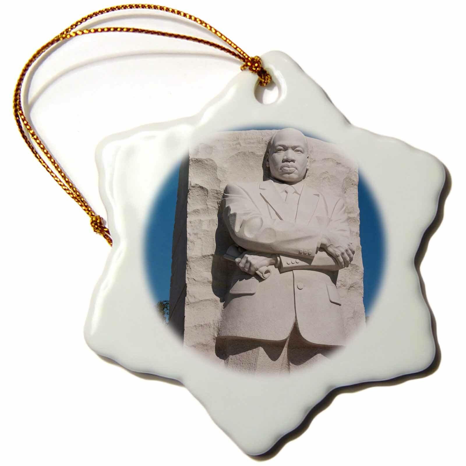 The Holiday Aisle Martin Luther King Jr Memorial Washington Dc Usa Snowflake Holiday Shaped Ornament Wayfair