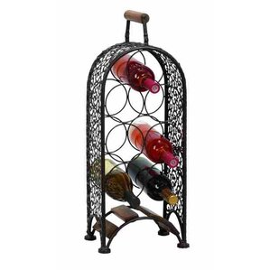 7 Bottle Floor Wine Rack by ABC Home Collection