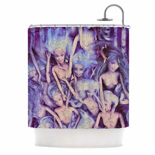 Wild Things by AlyZen Moonshadow Barbie Single Shower Curtain
