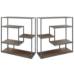 Cassandra Geometric Bookcase (Set Of 2) By Mistana