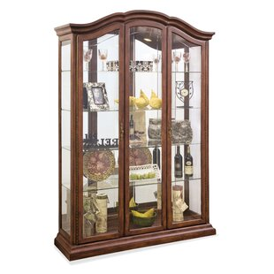 Elrosa Lighted Curio Cabinet