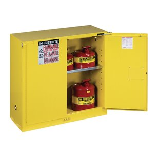 Sure-Grip? 44H x 43W x 18D  2 Door EX Flammable Safety Cabinet by Justrite