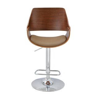 Corrigan Studio Alouette Bent Wood Swivel Bar Stool