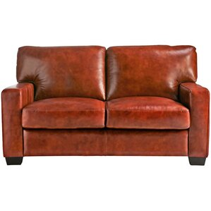Hillcrest Vintage Leather Loveseat by Union Rustic