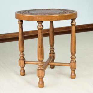Shop for Colonial Light Mohena Wood and Leather End Table by Novica