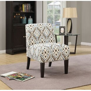 Dorazio Pattern Fabric Slipper Chair by Ebern Designs