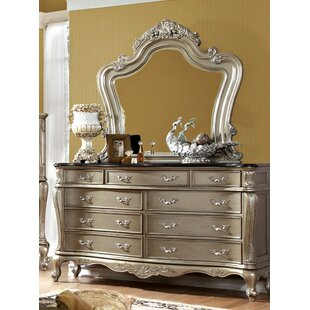 Cameron 9 Drawer Dresser with Mirror