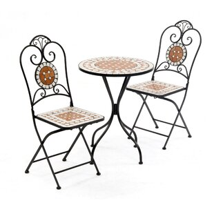 Lowery Diamond Mosaic 3 Piece Bistro Set