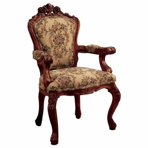 Carved Rocaille Fabric Armchair by Design To..