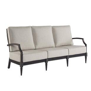 Euston Patio Sofa with Cushions by Canora Grey