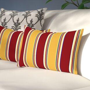 Henrich Indoor/Outdoor Lumbar Pillow (Set of 2)