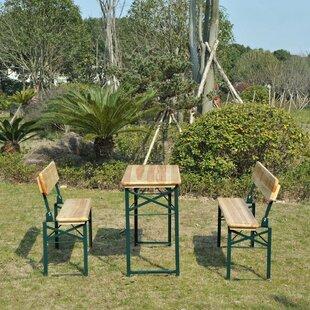 Blanken Wooden Garden Picnic Bench Set Image