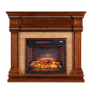Alan Stone Look Electric Fireplace by Alcott Hill