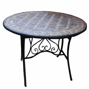 Gottschalk Solid Round Mosaic Dining Table by Fleur De Lis Living Read Reviews