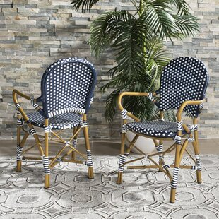 Culpeper Stacking Patio Dining Chair (Set of 2) Bungalow Rose