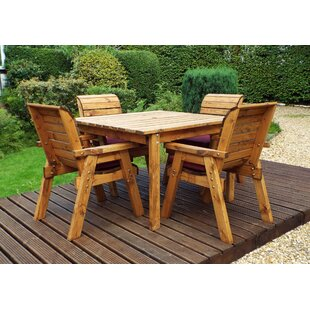 Felder 4 Seater Dining Set With Cushions By Union Rustic