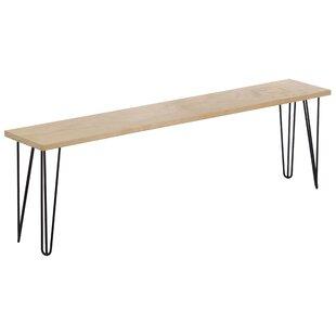 Abanda Wood Bench By Ebern Designs