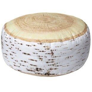 Birch Log Round Cotton Throw Pillow