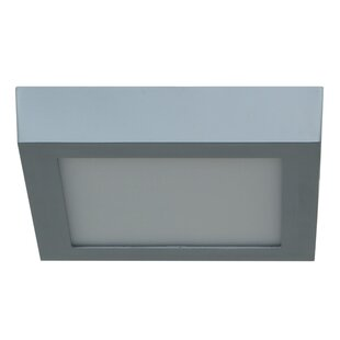 Orren Ellis Johnstone 1-Light Outdoor Flush Mount