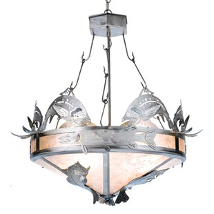 Meyda Tiffany Catch of the Day Trout 2-Light Bowl Pendant