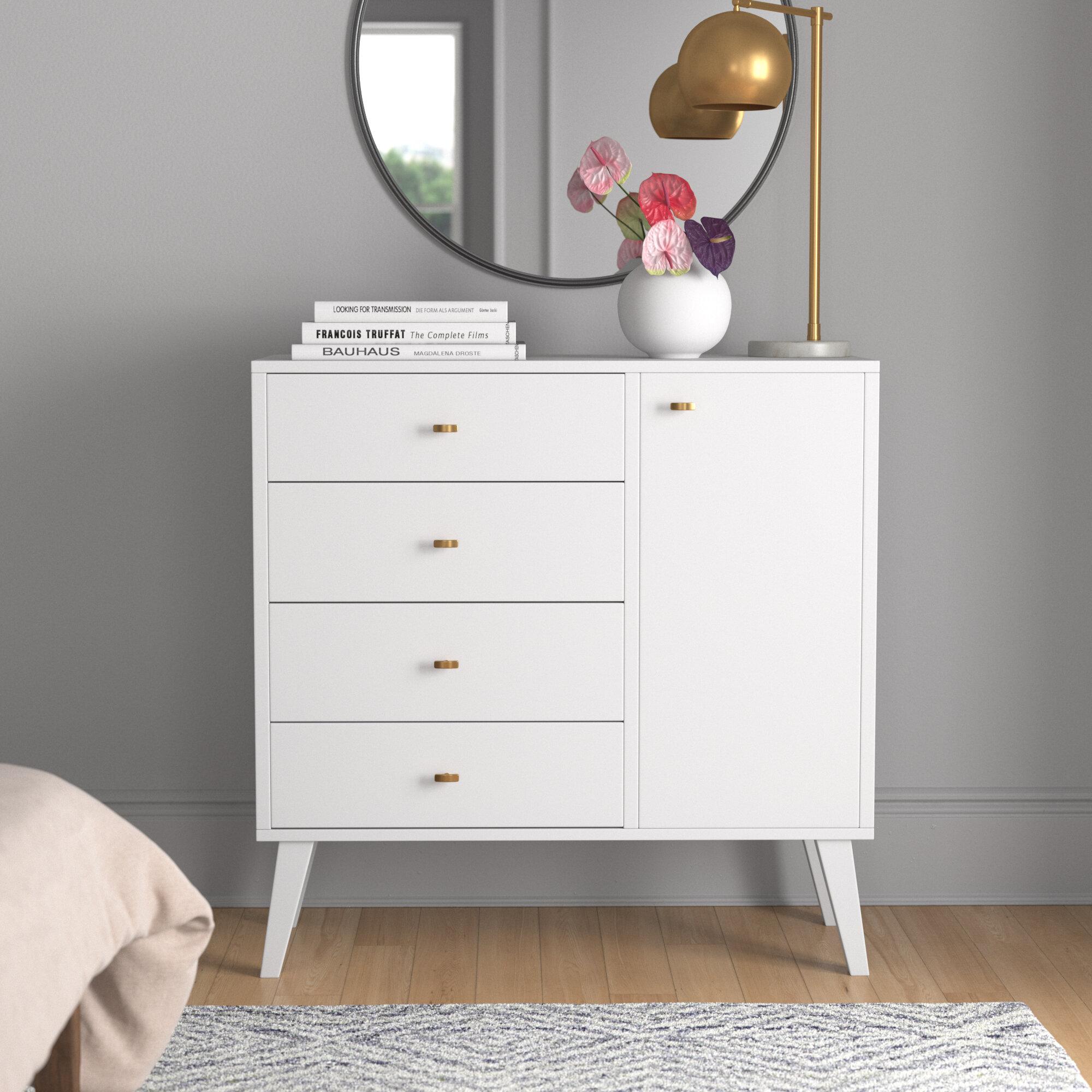 Mercury Row Alyssa 4 Drawer Combo Dresser Reviews Wayfair Ca
