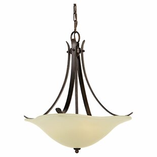 Charlton Home Dakota 3-Light Bowl Pendant